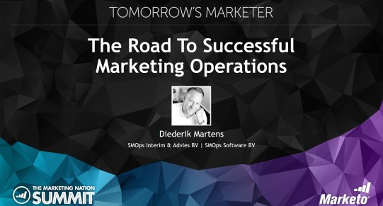Diederik-Martens-Marketo-Summit-2016-Journey-To-Successful-Marketing-Operations