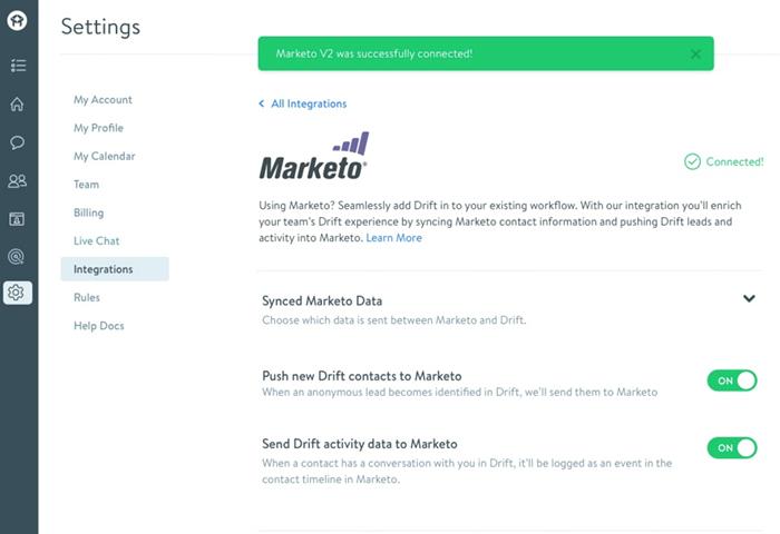 Drift Marketo Integration